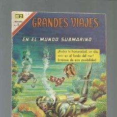 Tebeos: GRANDES VIAJES 57: EN EL MUNDO SUBMARINO, 1967, NOVARO, BUEN ESTADO. Lote 122352975