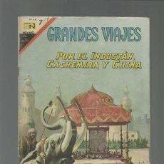 Tebeos: GRANDES VIAJES 59: POR EL INDOSTÁN, CACHEMIRA Y CHINA, 1967, NOVARO, BUEN ESTADO. Lote 122353951