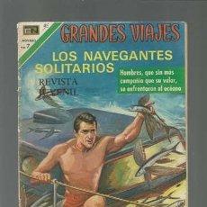 Tebeos: GRANDES VIAJES 96: LOS NAVEGANTES SOLITARIOS, 1971, NOVARO. Lote 122355083