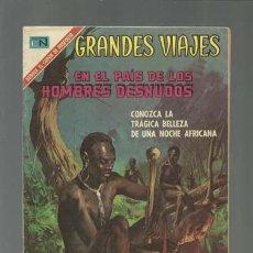 Tebeos: GRANDES VIAJES 92: EN EL PAÍS DE LOS HOMBRES DESNUDOS, 1970, NOVARO, MUY BUEN ESTADO. Lote 122462199