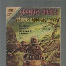 Tebeos: GRANDES VIAJES 88: TESOROS BAJO LAS AGUAS, 1970, NOVARO. Lote 122462403