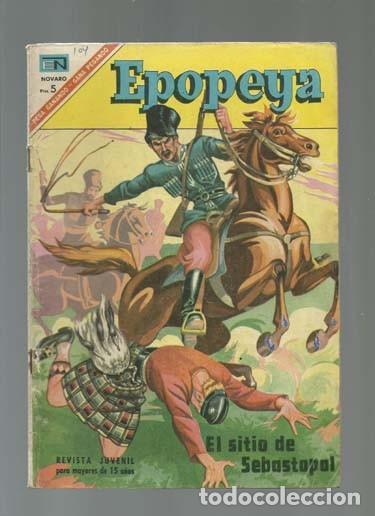 EPOPEYA 104: EL SITIO DE SEBASTOPOL, 1967, NOVARO, BUEN ESTADO (Tebeos y Comics - Novaro - Epopeya)