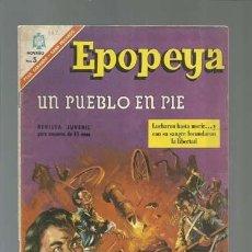 Tebeos: EPOPEYA 102: UN PUEBLO EN PIE, 1966, NOVARO, BUEN ESTADO. Lote 122733247