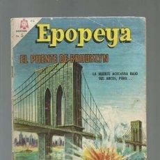 Tebeos: EPOPEYA 97: EL PUENTE DE BROOKLYN, 1966, NOVARO, BUEN ESTADO. Lote 122733255