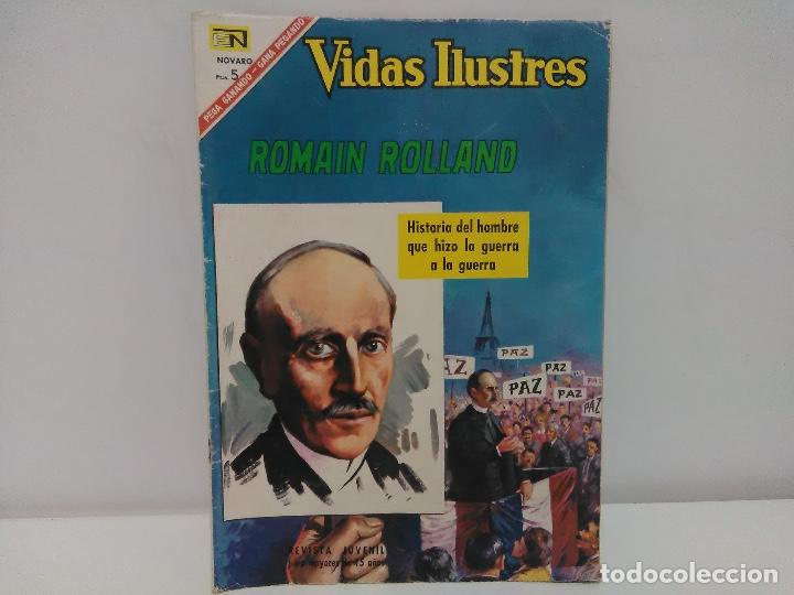 COMIC VIDAS ILUSTRES- ROMAIN ROLLAND, Nº153 - EDITORIAL NOVARO, AÑO 1967 (Tebeos y Comics - Novaro - Vidas ilustres)
