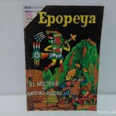 Tebeos: EPOPEYA. EL MISTERIO DE MACHU-PICCHU, Nº72, AÑO 1964 NOVARO. Lote 123045043