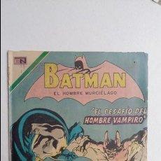 Tebeos: BATMAN N° 589 - EL DESAFÍO DEL HOMBRE VAMPIRO - ORIGINAL EDITORIAL NOVARO. Lote 132831701