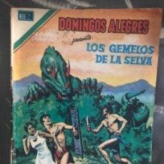 Tebeos: ANTIGUO CÓMIC TEBEO DOMINGOS ALEGRES LOS GEMELOS DE LA SELVA NOVARO ÁGUILA . Lote 126169183
