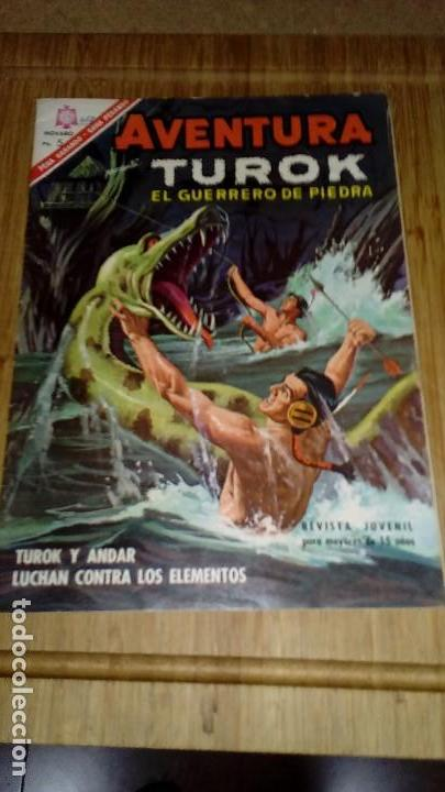AVENTURA Nº 453 TUROK MUY DIFÍCIL NOVARO (Tebeos y Comics - Novaro - Aventura)