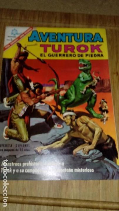 AVENTURA Nº 457 TUROK MUY DIFÍCIL NOVARO (Tebeos y Comics - Novaro - Aventura)