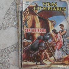 Tebeos: VIDAS EJEMPLARES Nº 191,1965, PROCEDENTE DE ENCUADERNACION,VER FOTO,SAN EUSTAQUIO,NOVARO. Lote 127194975