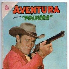 Tebeos: AVENTURA # 383 NOVARO 1965 POLVORA EL HOMBRE DEL RIFLE THE RIFLEMAN CHUCK CONNORS BUEN ESTADO. Lote 127264387