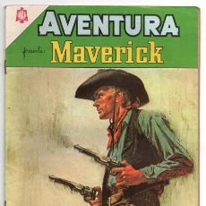 Tebeos: AVENTURA # 350 NOVARO 1964 MAVERICK LA EMBOSCADA JAMES GARNER JACK KELLY EXCELENTE ESTADO. Lote 127264479