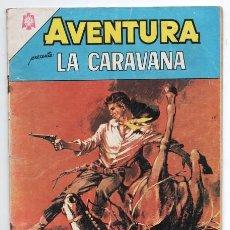 Tebeos: AVENTURA # 414 NOVARO 1965 LA CARAVANA CESAR EL CAZADOR MUY BUEN ESTADO. Lote 127463911