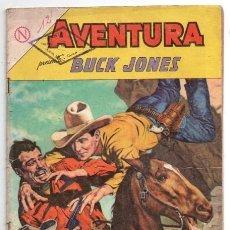 Tebeos: AVENTURA # 332 NOVARO 1964 BUCK JONES EL MAPA DEL TESORO & EL ARTISTA DEL GATILLO BUEN ESTADO. Lote 127467119