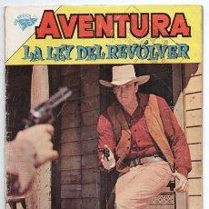 Tebeos: AVENTURA # 209 NOVARO 1962 LA LEY DEL REVOLVER MATEO DILLON DODGE CITY GUNSMOKE BUEN ESTADO. Lote 127468651