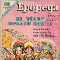 BDs: EPOPEYA EL TÍBET REVELA SUS SECRETOS NÚMERO 120 EDITORIAL NOVARO. Lote 127831015