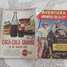 Tebeos: AVENTURA HOMBRES DE LA LEY Nº 286, AÑO 1963,NOVARO,PROCEDENTE DE ENCUADERNACION,LOMO ROZADO. Lote 127911811
