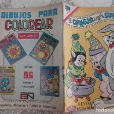 Tebeos: EL CONEJO DE LA SUERTE Nº 375, AÑO 1971,NOVARO,PROCEDENTE DE ENCUADERNACION,LOMO ROZADO. Lote 127912239