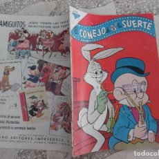 Tebeos: EL CONEJO DE LA SUERTE Nº 158, AÑO 1962,NOVARO,PROCEDENTE DE ENCUADERNACION,LOMO ROZADO. Lote 127912383