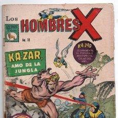 Tebeos: HOMBRES X # 10 LA PRENSA X-MEN APARECE KA-ZAR AMO DE LA JUNGLA & ZABU DIENTES DE SABLE BUEN ESTADO. Lote 128056579