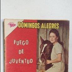 Tebeos: DOMINGOS ALEGRES N° 498 - FUEGO DE JUVENTUD - ORIGINAL EDITORIAL NOVARO. Lote 128108991