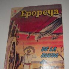 Tebeos: COMIC EPOPEYA Nº 60 MARZO DE 1963 DE LA RUEDA AL JET DE EDITORIAL NOVARO. Lote 128244519