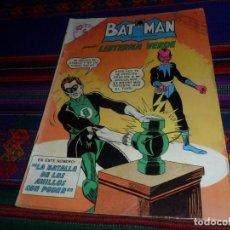 Tebeos: BATMAN Nº 174 CON LINTERNA VERDE. NOVARO 1963. LA BATALLA DE LOS ANILLOS CON PODER. RARO... Lote 128263383