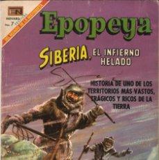 Tebeos: EPOPEYA NÚMERO 128 SIBERIA, EL INFIERNO HELADO EDITORIAL NOVARO. Lote 128317087