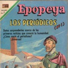 Tebeos: EPOPEYA NÚMERO 142 LOS PERIÓDICOS EDITORIAL NOVARO. Lote 128317307