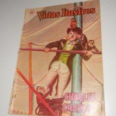 Tebeos: COMIC VIDAS ILUSTRES Nº 68 FEBRERO DE 1961 CHARLES CHAPLIN EDITORIAL NOVARO. Lote 128317923