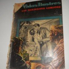 Tebeos: COMIC VIDAS ILUSTRES Nº 6 JULIO DE 1956 LOS HERMANOS LUMIERE EDITORIAL NOVARO. Lote 128324647