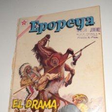 Tebeos: COMIC EPOPEYA Nº 45 FEBRERO DE 1962 EL DRAMA DEL OESTE EDITORIAL NOVARO. Lote 128353363