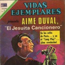 Tebeos: VIDAS EJEMPLARES NÚMERO 343 AIMÉ DUVAL, EL JESUITA CANCIONERO EDITORIAL NOVARO. Lote 128413715
