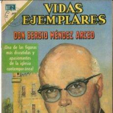 Tebeos: VIDAS EJEMPLARES NÚMERO 317 DON SERGIO MÉNDEZ ARCEO EDITORIAL NOVARO. Lote 128414603