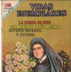 Tebeos: VIDAS EJEMPLARES NÚMERO 283 SOR MARÍA DE JESÚS MOLINA EDITORIAL NOVARO. Lote 128415327