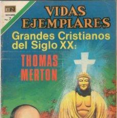 Tebeos: VIDAS EJEMPLARES NÚMERO 334 GRANDES CRISTIANOS DEL SIGLO XX: THOMAS MERTON EDITORIAL NOVARO. Lote 128415743