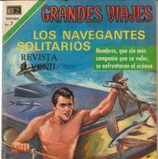 Tebeos: GRANDES VIAJES NÚMERO 96 LOS NAVEGANTES SOLITARIOS EDITORIAL NOVARO. Lote 128511563