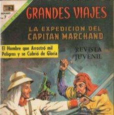 Tebeos: GRANDES VIAJES NÚMERO 76 LA EXPEDICIÓN DE CAPITÁN MARCHANO EDITORIAL NOVARO. Lote 128516055