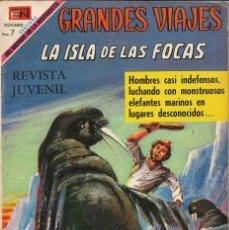 Tebeos: GRANDES VIAJES NÚMERO 81 LA ISLA DE LAS FOCAS EDITORIAL NOVARO. Lote 128517627