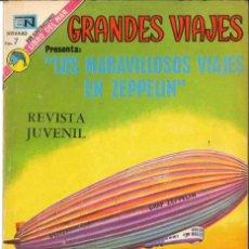 Tebeos: GRANDES VIAJES NÚMERO 131 LOS MARAVILLOSOS VIAJES EN ZEPPELIN EDITORIAL NOVARO. Lote 128518199