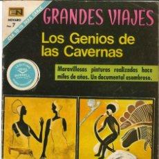 Tebeos: GRANDES VIAJES NÚMERO 99 LOS GENIOS DE LAS CAVERNAS EDITORIAL NOVARO. Lote 128518955