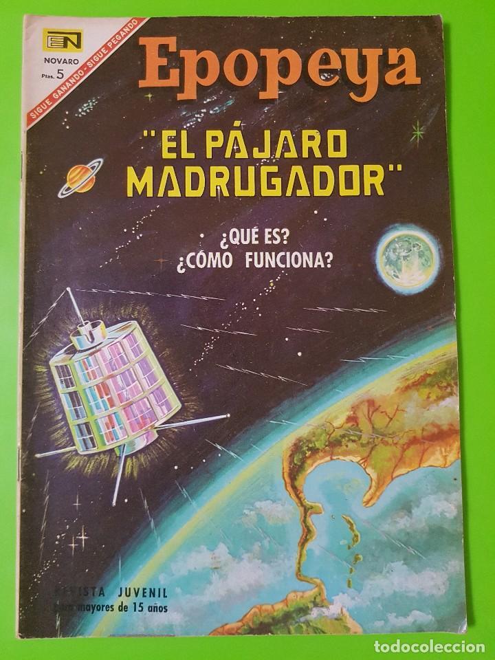 EPOPEYA Nº 107 AÑO IX DEL 1º DE ABRIL DEL AÑO 1967. EL PÁJARO MADRUGADOR EN BUEN ESTADO (Tebeos y Comics - Novaro - Epopeya)