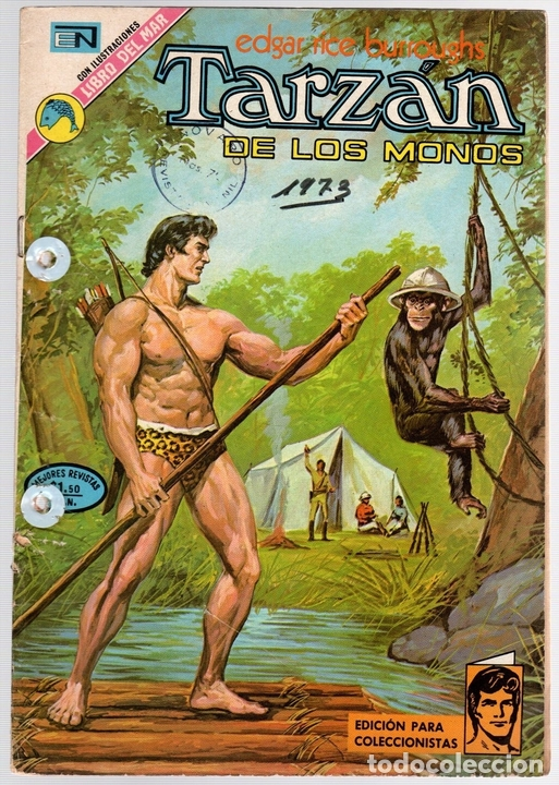 TARZAN DE LOS MONOS. EDGAR RICE BURROUGHS Nº 351. CIRCO EN LA SELVA. 21 DE JUNIO DE 1973 (Tebeos y Comics - Novaro - Tarzán)