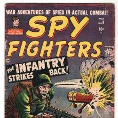 Tebeos: SPY FIGHTERS # 8 CLASSIC SYNDICATE 1952 INFANTRY STRIKES BACK CLARK MASON MALAYA 32 PAG BUEN ESTADO. Lote 128679771