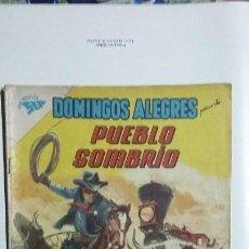 Tebeos: DOMINGOS ALEGRES N° 400 - PUEBLO SOMBRÍO - ORIGINAL EDITORIAL NOVARO. Lote 128692719
