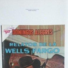 Tebeos: RELATOS DE LA WELLS FARGO - DOMINGOS ALEGRES N° 424 - ORIGINAL EDITORIAL NOVARO. Lote 128694431