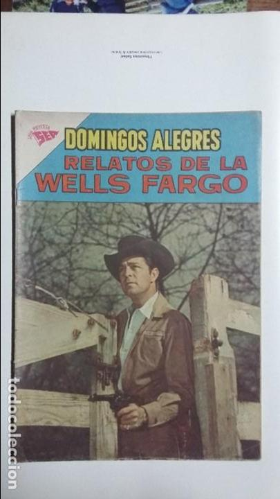 RELATOS DE LA WELLS FARGO - DOMINGOS ALEGRES N° 465 - ORIGINAL EDITORIAL NOVARO (Tebeos y Comics - Novaro - Domingos Alegres)