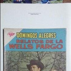 Tebeos: RELATOS DE LA WELLS FARGO - DOMINGOS ALEGRES N° 465 - ORIGINAL EDITORIAL NOVARO. Lote 128694611