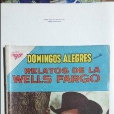 Tebeos: RELATOS DE LA WELLS FARGO - DOMINGOS ALEGRES N° 412 - ORIGINAL EDITORIAL NOVARO. Lote 128694755